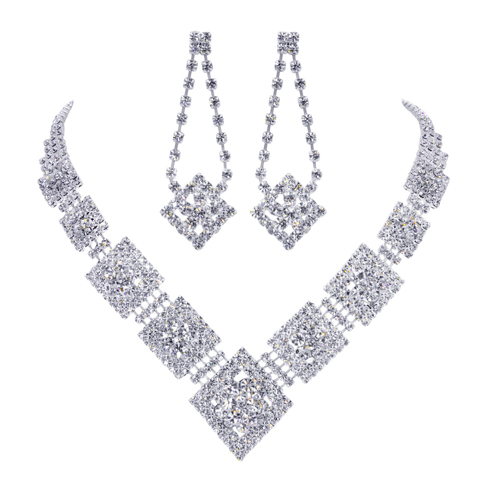 #11665 Diamond Necklace and Earring Set