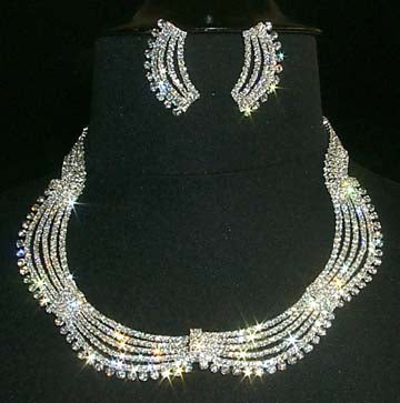 #11667 Drape Necklace and Earring Set