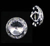 13mm Rondel Button with Crystal Rivoli Center - 11790/13mm