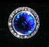 16mm Rondel Button with Sapphire Rivoli Center - 11790/16mm