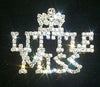 #11888 Rhinestone Little Miss with Crown Pin