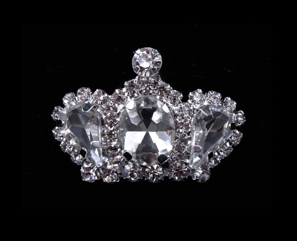 #11893 Rhinestone Crown Pin