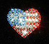 #11912 USA Flag on Heart Pin