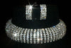#12505 - Crystal 8 Row Adjustable Rhinestone Choker