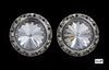 #12537 16mm Rondel with Rivoli Button Earrings - Clip