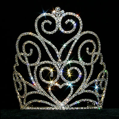 #12558 Victorian Heart Crown Crown - Medium