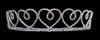 #12674 Small Skipping Hearts Tiara with Combs