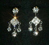 #12711 - Small Square Dangle Chandelier Earrings