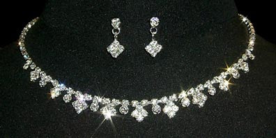 #12867 - Diamonds Necklace and Earring Set