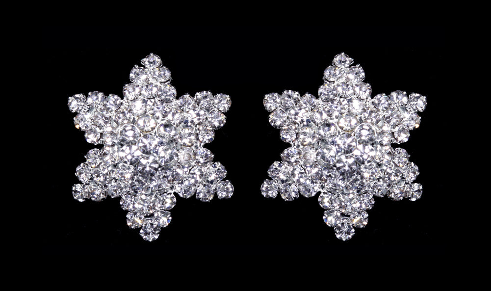 #13110 -  Rhinestone Starfish Earrings