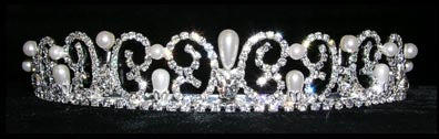 #13832 Pearl Water Spray Tiara