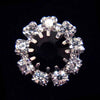 #14062 Medium Rhinestone Rosette Button - Jet Center