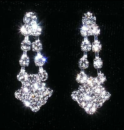#14177 - Diamond Tips Drop Earring