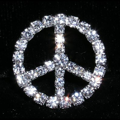 "3/4"" Peace Sign Buckle - #14378"