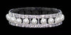 #14473 - Pearl and Rhinestone Stretch Bracelet - Crystal Silver