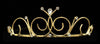 #14697G - Poseidon Princess Wire Tiara - Gold Plated