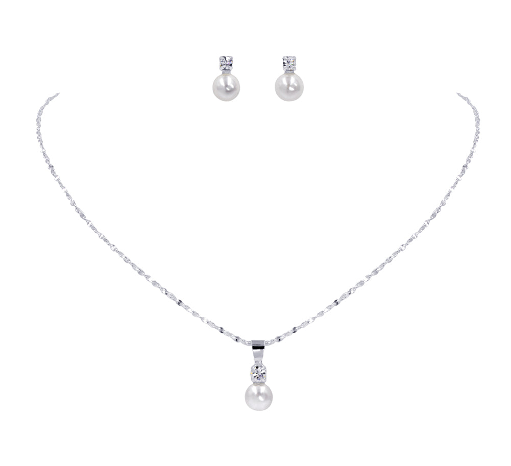 #15013 - Classic Pearl Dot Necklace Set