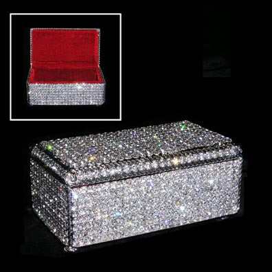 #15037 - Rhinestone Jewelry Box