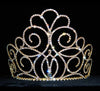 "#15201G - Titan's Queen Tiara - 5"" Gold Plated"