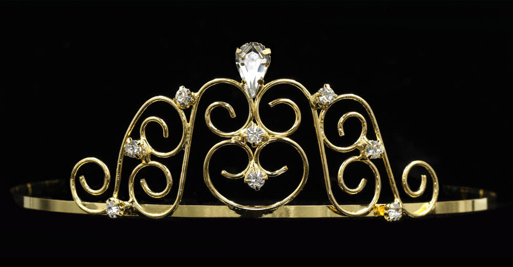 #15262G - Fancy Gate Wire Tiaras - Gold Plated