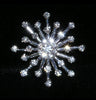 "#15322 - Star Burst Approx 1.25"" Button - Silver Plated"