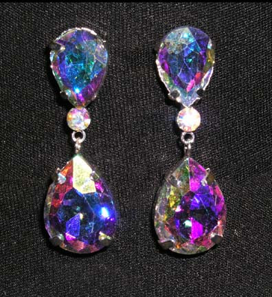 #15331AB - Large Pear Drop AB Earrings