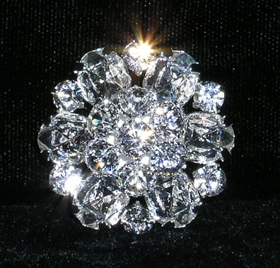 #15382 - Layered Daisy Dome Button - Approx. 1.25""