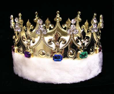 King's Crown #15598 with Faux Fur - Gold
