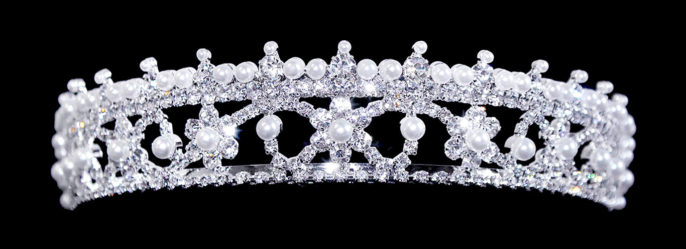 #16001 - Equisite Pearl Tiara with Combs