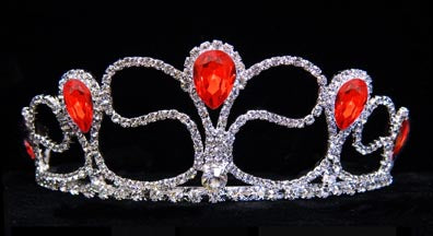 #16218 Rising Pear Tiara Comb - Light Siam