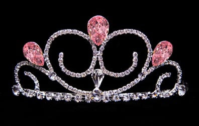 #16039LTPINK - Gentle Breeze Tiara - Light Pink