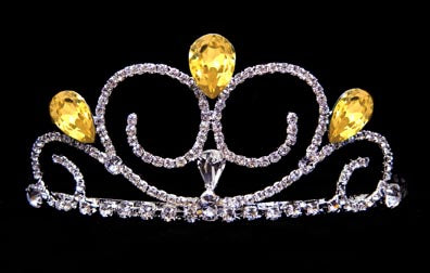 #16039YELLOW - Gentle Breeze Tiara - Yellow