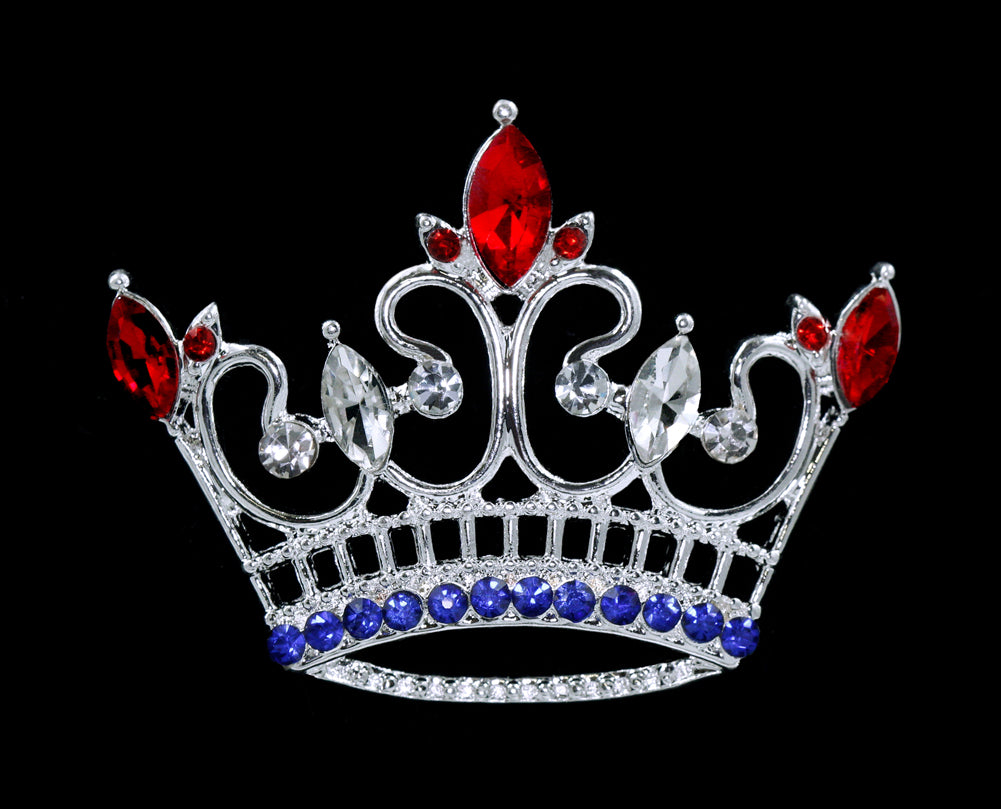 #16125RWB - Kings Point Crown Pin - Red White and Blue