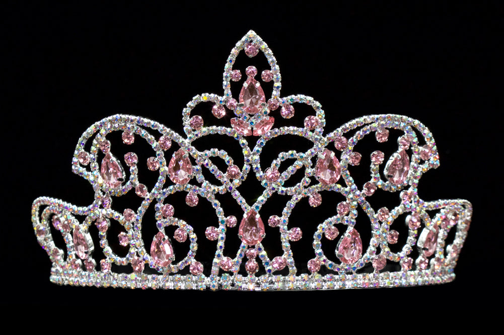 #16174 Caped Crown Rose and AB - 4""