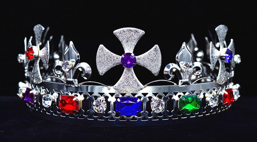 #16317MS Royal King's Adjustable Crown -  Multi Silver