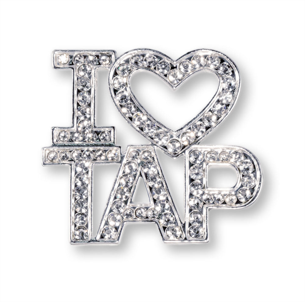#16344XS I Love Tap Crystal Pin