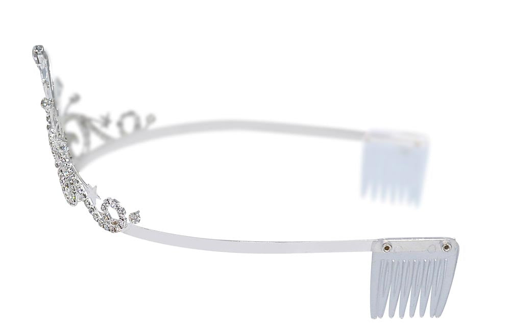 #16369 - Radiant Star Tiara with Combs - 2.5""