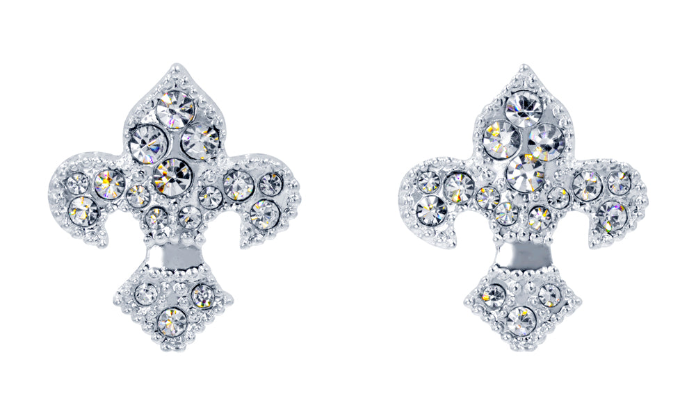 #16385 Fleur de Lis - Post Earrings