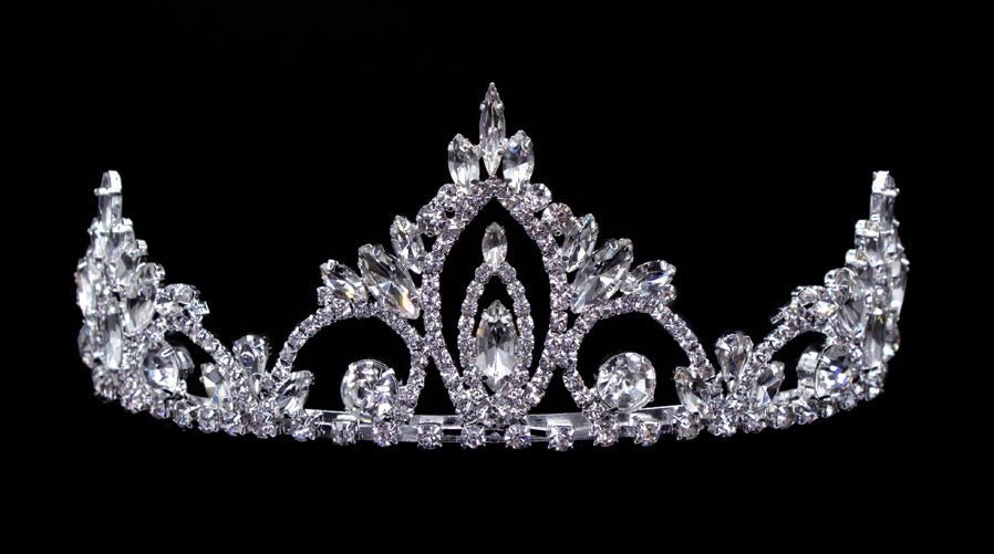 #16445 - Pageant Prime Tiara with Combs - 2.5""