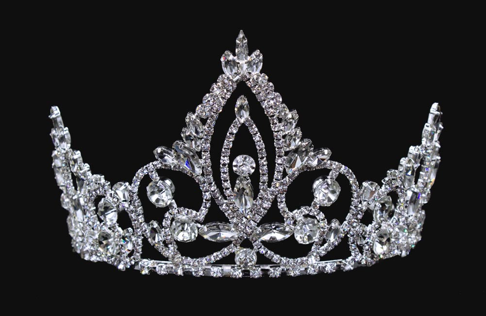 #16450 - Pageant Prime Tiara with Combs - 4""