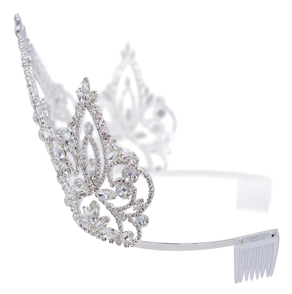 #16451 - Pageant Prime Tiara with Combs - 6""