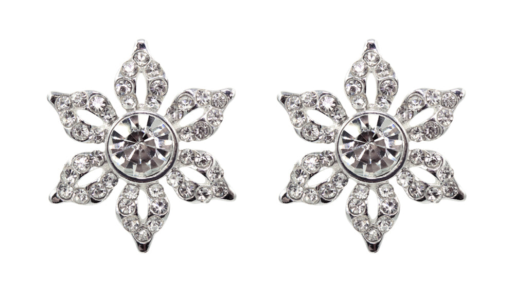 #16470 - Blossom Pave Button Earrings