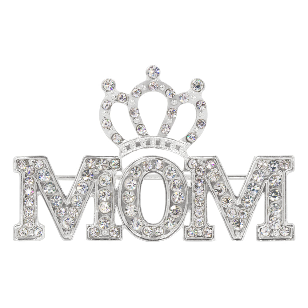 #16522 - Crowned Mom Pave Pin