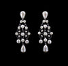 #16681 - Pearl and Rhinestone Decorative Earrings