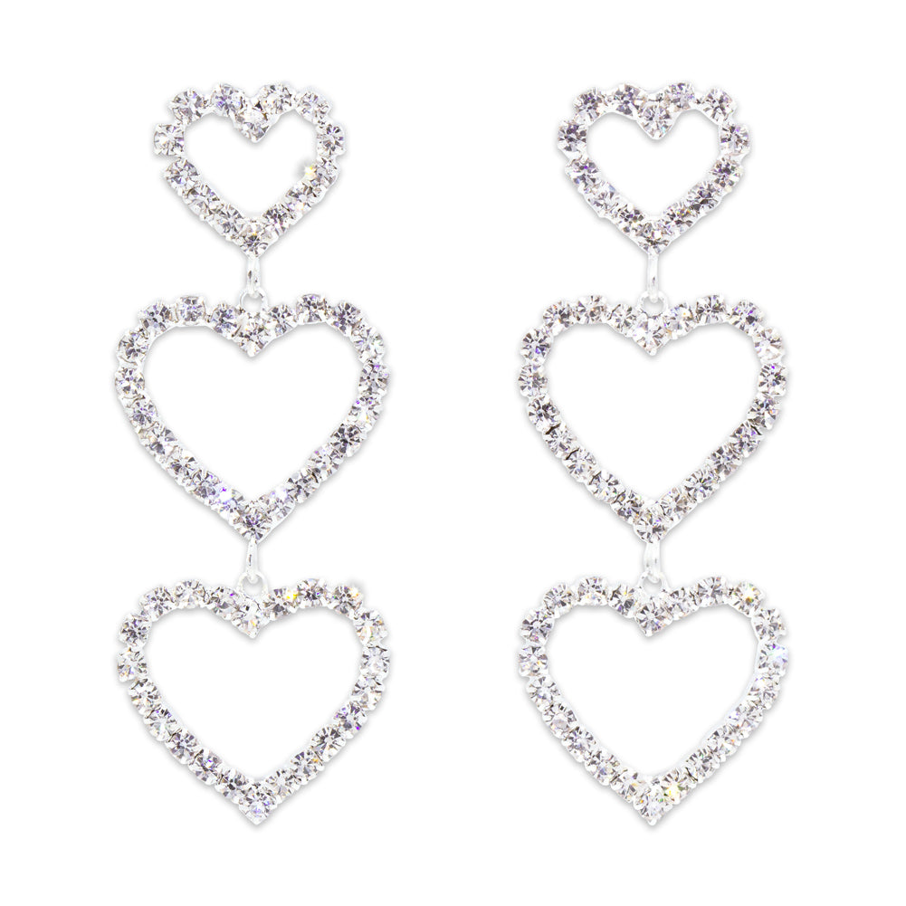 #5365 - Triple Heart Drop Earrings