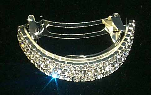 3 Row Pony Tail Barrette - #7583