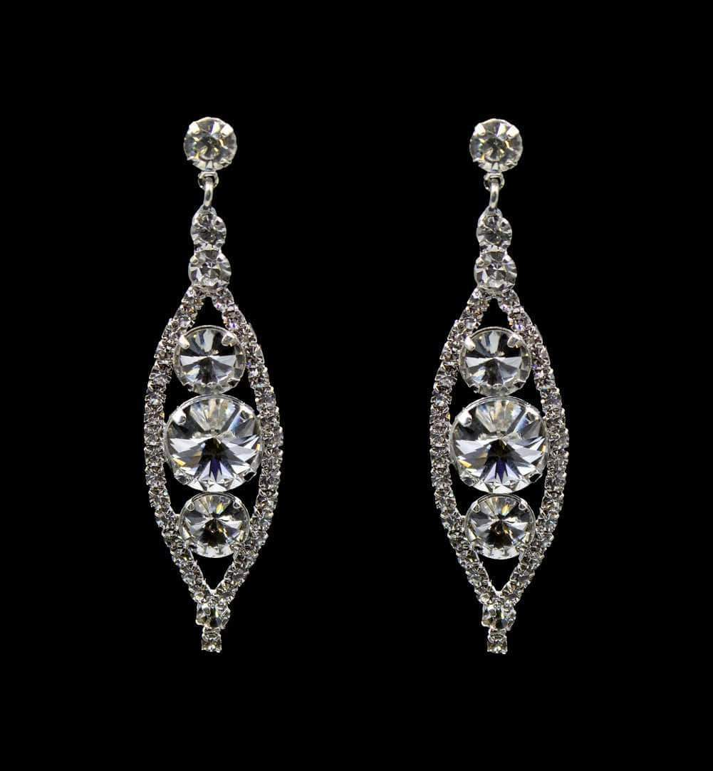 Earrings - Dangle #16680 - Rivoli Burst Drop Drop Earrings