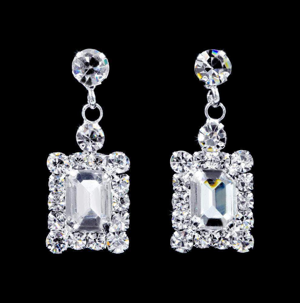 Earrings - Dangle #16921 - Framed Octagon Drop Earrings