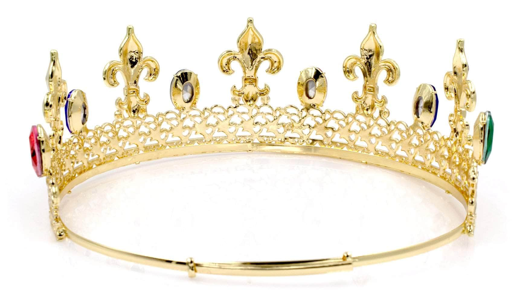 Men's Crowns and Scepters Prom King Crown #17005 - Gold (Limited Quantity)