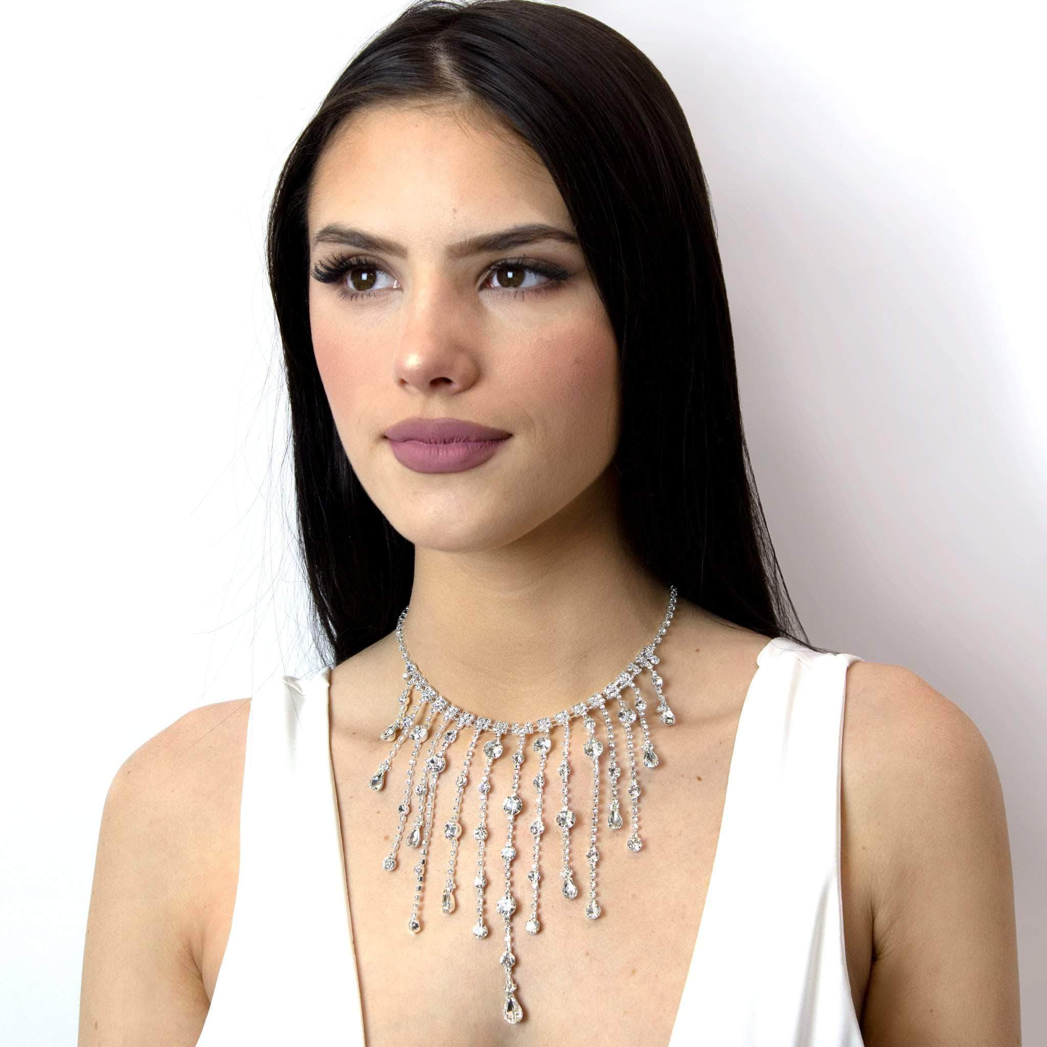 Necklaces - Bibs #16980 - Raindrop Choker Necklace